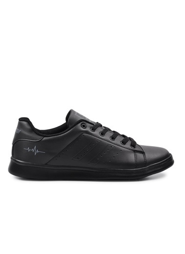 Walkway 041 Siyah-Siyah Erkek Spor Ayakkabı Siyah